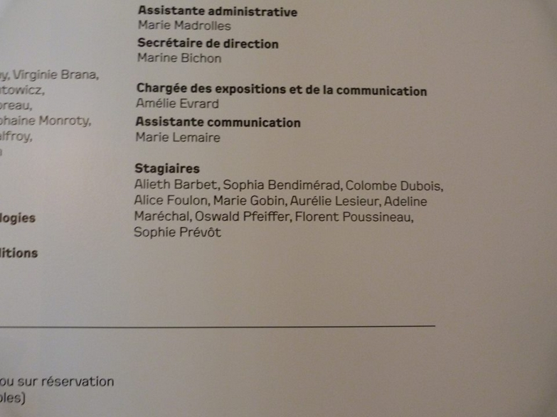 Exhibition credits