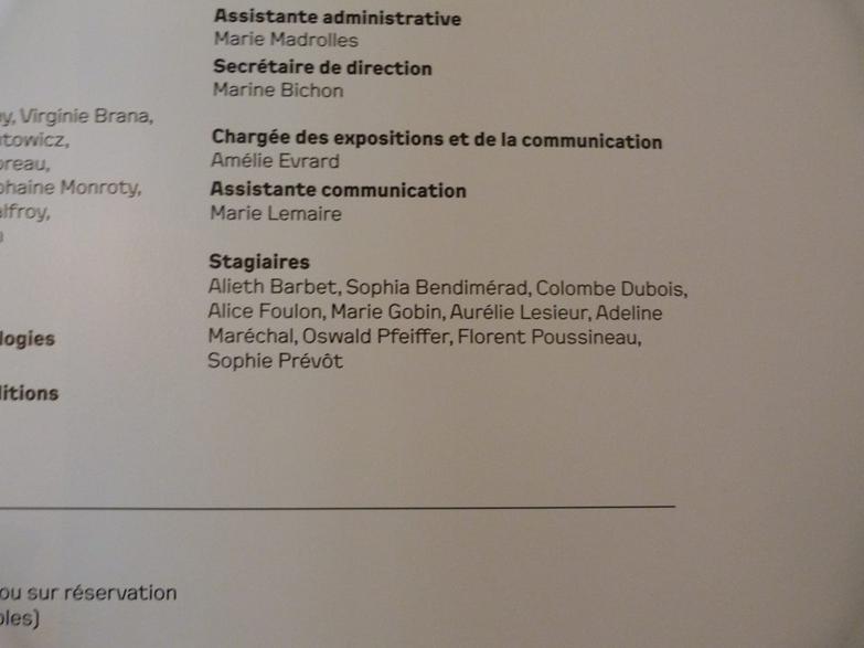 Exhibition credits